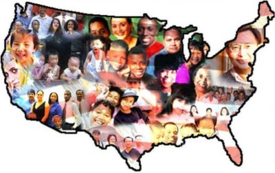 faces on map of United States